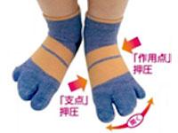 キッズ用3本指テーピング靴下